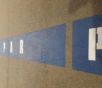 Markierung Parkplatz