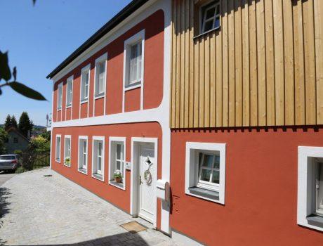Hausfassade in Leiben